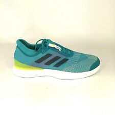 ADIDAS Mens Size 13.5 Adizero Ubersonic 3 Tennis Shoes Green Sneakers CP8852 NEW