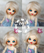 "3-4"" 9-10cm BJD fabric fur wig Milky White for AE PukiFee lati 1/12 Doll"