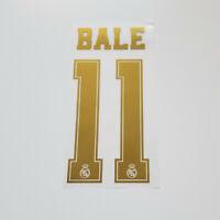 Real Madrid 2019 2020 Gareth Bale Shirt Jersey Shirt Name Number 11 Set Gold