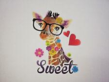 Panel süße Giraffe Sweet Mädchen Jersey 40x50 cm
