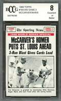 Tim Mccarver / Roger Maris Card 1969 Topps #164 St Louis Cardinals BGS BCCG 8