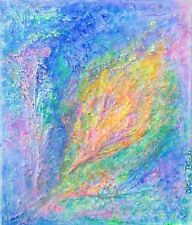 BUDDING NEW LIFE Original Art Abstract Contemporary Texture Rainbow Colourful