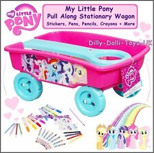 NEW My Little Pony Filled Truck Caddy Stationary Stickers Pens Pull Along Wagon