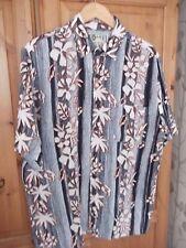 Vintage Men's Chemise Hawaïenne Taille UK L Hana Bay 44 tour de poitrine/31 long (collection