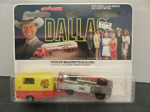 Majorette Dallas Volve 245 DL Station Wagon Horse Trailer Die-Cast France A