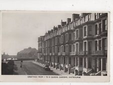 Greetings From 1 To 8 Queens Gardens Eastbourne Sussex 1953 RP Postcard 565b