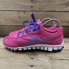 Reebok Realflex Girls Youth Size 6 Pink Purple Athletic Running Shoes