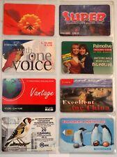 art.1025-n.8 telephons cards, vari paesi.