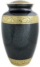 Adult Cremation Urn for Ashes , Funeral Memorial remembrance Gold Grey Large Urn