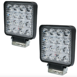 """WNB 2x Square 4"""" 10cm Led Work light for Car Van Truck Tractor in 12 or 24 Volt"""