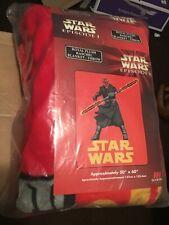 "Royal plush blanket Star Wars vintage episode1 new in original package 50"" x 60"""