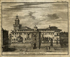 BOLOGNA Emilia Romagna Original Kupferstich Gouverneurspalast van der Aa 1707
