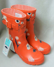 Joules Molly Welly Red Botanical Floral Wellingtons Wellies Festival BNWT Size 3