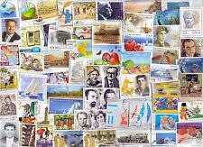 GREECE   100  USED STAMPS  DIFFERENT  ONLY EURO