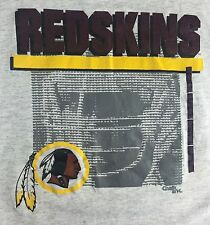 Vintage Mens M 90s Washington Redskins NFL Football Logo Chalk Line NOS T-Shirt