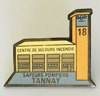 Rescue Centre Sapeurs Pompiers Tannay Advertising Pin Badge Vintage (C18)