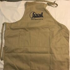 Band New Vintage Food Network Employee Chef's Apron with Pocket Khaki Tan