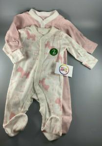 NEW baby girls EX mothercare 2pack pink zebra stripe babygrows sleepsuits