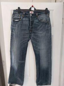 "Levi 501 Mens Jeans 26""  Waist 30""  Inside Leg"
