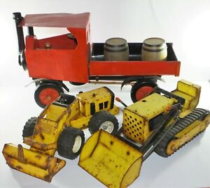Vintage Tonka Trencher Construction Vehicle Digger Shovel & Foden Tractor Truck