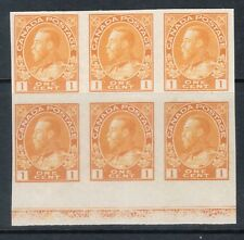 Canada #136 Extra Fine Never Hinged Lathework B Block **With Certificate**