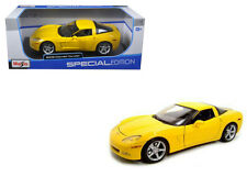 Maisto 1/18 2005 Chevrolet Corvette C6 Coupe Yellow Diecast Car Model 31117