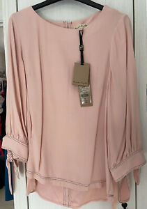 Phase Eight Pink Tie Sleeve Blouse Size 8- NEW WITH TAGS RRP £65