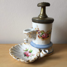 Antique rare French 19th century inkwell with gilt paris 1839