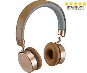 Goji GTCONRG18 Wireless Bluetooth Hands Free On-Ear Headphones  - Rose Gold