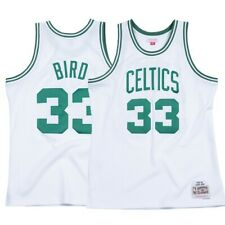 4be5d4fa078 Larry Bird NBA Boston Celtics Mitchell   Ness White 1985-86 Swingman Jersey