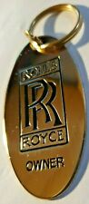 Rolls Royce  Owner 22ct Gold Plated Car Keyring - NEW Collectable, Vintage
