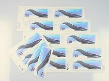 2010 Lot of 9 $10 Blue Whale High Value Canadian Stamps w/ Two Loose Stamps