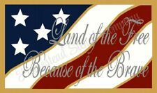 """Reusable Stencil 8405 N 12""""x24"""" Land Of The Free - Mylar Sign Stencil"""
