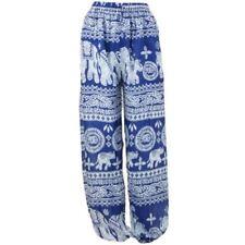 Pantaloni da donna harem medio blu