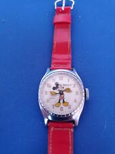 SUPER CLEAN 1948 INGERSOLL MICKEY MOUSE BIRTHDAY SERIES CHARACTER WATCH WORKING