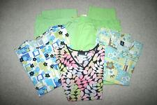 Scrub Lot of 5 Pieces, 2 Pants (lg) 2 Tops(xl) 1 Jacket (xl)