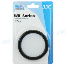 Jjc balance de blancos tapa para 77 mm Sony Nikon Canon Fujifilm Olympus lente de cámara