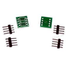 2sets SO8 SOIC8 SOP8 TO DIP8 adapter SOP8-DIP8 pcb conveter board - UK SELLER