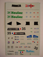 DECALS KIT 1/43 WR PEUGEOT TEAM WALTER RACING 24h LE MANS 2000 N.35 DECALCOMANIA