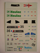 DECALS KIT 1/43 WR PEUGEOT TEAM WALTER RACING 24h LE MANS 2000 N.35 DECALS