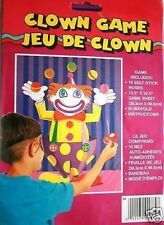 CLOWN Circus Party Game Childrens Birthday Game (pin the tail on the donkey)