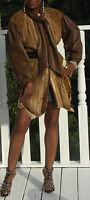 Fabulous Unique Designer Springbok Antelope Fur jacket coat stroller S-M 2-10