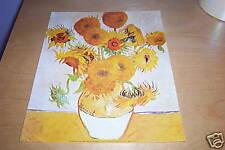 "Poster/Print 8"" x 10"" - Vincent Van Gogh Sunflowers on 150gsm Silk Paper"