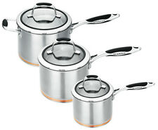 NEW Scanpan Coppernox 3 Piece Saucepan Set Inl. 16/18/20cm RRP $419.95