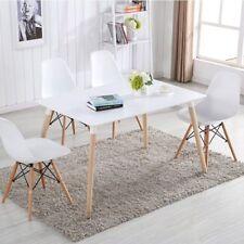 Pack 4 sillas de comedor silla diseño nórdico piernas de madera Blanca