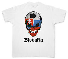 CLASSIC SLOVAKIA FOOTBALL SKULL FLAG T-SHIRT – Fußball Fan Hooligan Slowakai