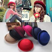 Vogue Ladies Women Men Unisex Vintage Wool Bowler Derby Hat Cap