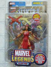 "Marvel Legends Elektra Toy Biz 6"" Super Poseable + Comic Book. NEW"