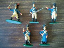 FIVE NICELY PAINTED AIRFIX 54MM NAPOLEONIC FRENCH LINE INFANTRY  Lot 2