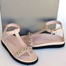 Alexander McQueen New sz 36.5 6.5 Womens Designer Skull Flats Shoes Sandals pink